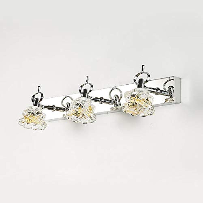 Badezimmerspiegel Beleuchtung LED Edelstahl Glas Bad Spiegel Scheinwerfer, kosmetischen Leuchten (Farbe  Wei-9w, 45 cm)