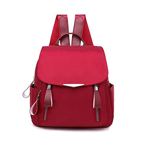 Waterproof Anti-Theft Daypack for Women for College Resistant Laptop School Bookbag - red - 9.84x4.33x10.62