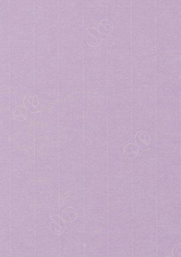 50 Stück - Artoz Serie 1001 Papier Bogen gerippt - 100g/qm - DIN A4, 297 x 210mm, hochwertig, flieder