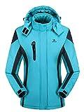 Lottaway - Chaqueta de forro polar con capucha para invierno y exterior, diseño de Anoraks, Mujer,...