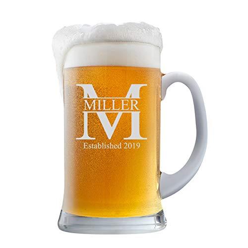 PersonalizedBeer Glass Mug - Custom Beer Mug 16oz   Miller Design