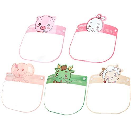 KESYOO 5 Stücke Kinder Gesichtsschutz Visier Schutzhelm PET Gesichtsschild Gesichtsschutzschirm Schutzbrille für Schule Restaurant Outdoor Reise(Zufällige Farbe)