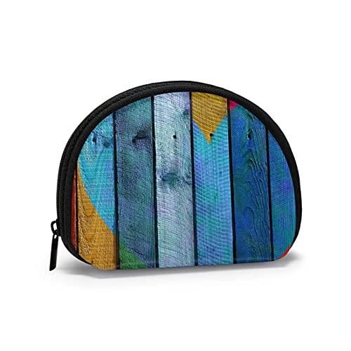 Oxford Cloth Coloured Board Liebevolles Herz Geldbörse Kleine Reißverschlusstasche Brieftasche Wechselbeutel Mini Kosmetik Make-up Taschen Organizer Mehrzweckbeutel