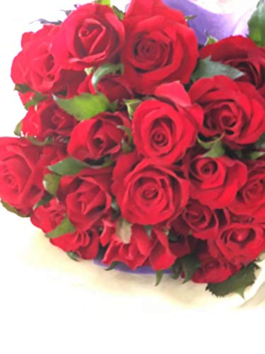 PURIZA 全9色から選べるバラの花束30本 最高級のトップローズを使用 薔薇 豪華なバラの花束(生花) バレンタイン 誕生日 結婚お祝 (赤)