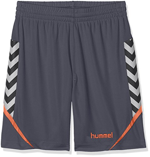 hummel Kinder AUTH. Charge Poly Shorts, Ombre Blue/Nasturtium, 164-176