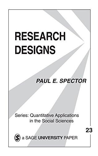 Research Designs (Quantitative Applications in the Social Sciences Book 23)  eBook: Spector, Paul E., Paul E. Spector: Amazon.co.uk: Kindle Store