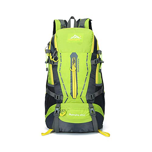 TnXan Backpack Travel Schoolbag Male Backpack Rucksack Men Large Capacity Rucksack Casual Daypacks Waterproof Camping Hiking Sport Bag 45L