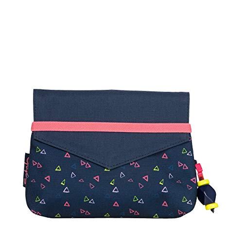 Satch Clutch Funky Friday Rucksack Freizeit und Sportwear Unisex Kinder Small Triangles Blue Pink Gelb (Mehrfarbig), Einheitsgröße