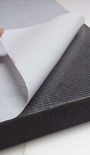 Glatt Schaumstoff Selbstkleben Dämmung Schallschutz Schwarz (100x50x5, Anth/Schwarz)
