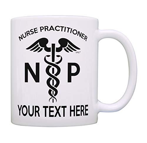 Regalos personalizados de enfermera Su nombre Enfermera practicante Regalos de graduación de enfermería para enfermeras Regalo personalizado Taza de café Taza de té Blanco