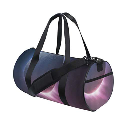 HARXISE Galaxy Weltraum Universum Saturn Planet Erde Astronomisch,Reisegepäcktasche Sport Leichte Segeltuch Fitness Gepäcktrommel Handtasche Abnehmbar