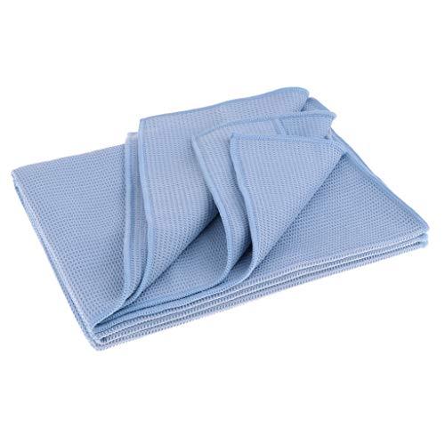 perfeclan Caliente Yoga Mat Toalla Microfibra Sintética Antideslizante Dance Sports Mat Cover para Mujeres Hombres - Azul