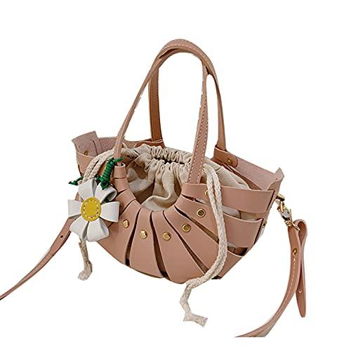wuxafe Beuteltasche, Schultertasche DIY Material Niedliche Cartoon Messenger Bag Hausgemachte Kunsthandwerk Material Set Zubehör, Damen Handtasche,