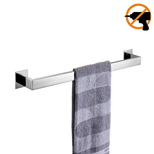 Homovater Selbstklebend 40cm Chrom Finish hochwertig 304 Edelstahl Handtuchhalter Modern Einfach Design Stil für Badezimmer Dusch