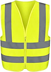 professional Neiko 53940A Highly visible vest, medium, neon yellow