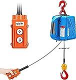NEWTRY 1500 kg Sollevare gru elettrica 220 V 7,6 m 1500 W filo di controllo elettrico arga...