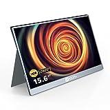 モバイルモニター/モバイルディスプレイ/ポータブルモバイルモニター ARZOPA 15.6インチ テレワーク ゲームモニター 1920x1080FHD Switch/PS4/PS5/カメラ/XBOX ONEなど対応 USB Type-C/mini HDMI/スタンドカバー 薄型 軽量 日本語取説付き PSE認証済み 金属製A1 GAMUT GRAY