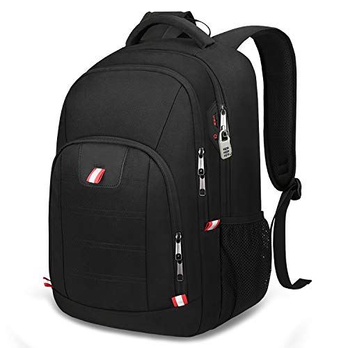 Laptop Backpack,Business Travel Backpack with USB Charging Slit for Men Womens, Anti Theft Water Resistant College School Bookbag Computer Backpack Fits 15 Inch Laptop and Notebook,Black