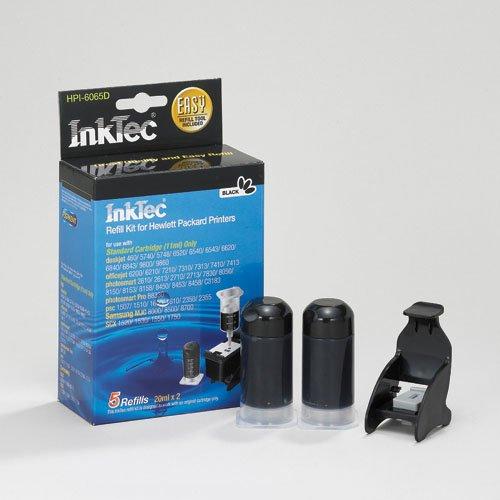 InkTec Recarga para Cartuchos HP 336 y HP 338. Negro PIGMENTADO. 20ml x 2