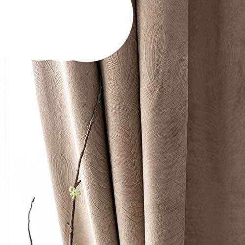 LLAAIT Cortinas de Plumas para Sala de Estar Dormitorio Cortinas Opacas Modernas para Tratamiento de Ventanas Cortinas de Terciopelo Grueso sombreado 85%, Cortinas Marrones