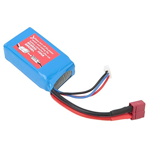 Dilwe Batería de Coche RC, 7.4V 1500mAh Lipo Batería RC Car Upgrade Repuestos de Repuesto Comaptible para Wltoys A959-B A969-B A979-B K929-B