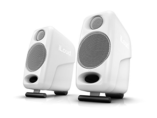iLoud Micro Monitor White Special Edition - kleinste Studio-Referenz-Monitorpaar weltweit, 4 Class-D-Endstufen, 50 Watt (RMS) bi-amped, Bassreflex, weiß