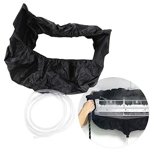 Mumusuki Bolsa de Limpieza de Aire Acondicionado Negra Funda de Limpieza Impermeable para Lavado de Polvo montada en la Pared Bolsa de Limpieza para Oficina doméstica