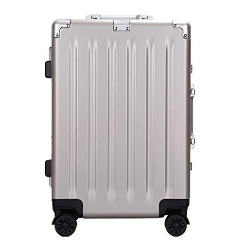 Juego de equipaje de viaje Maleta Trolley Maleta Cerraduras TSA Marco de aluminio a prueba de arañazos PC llevar en equipaje bolsa de viaje con ruedas giratorias 20 pulgadas 24 pulgadas 28 pulgadas