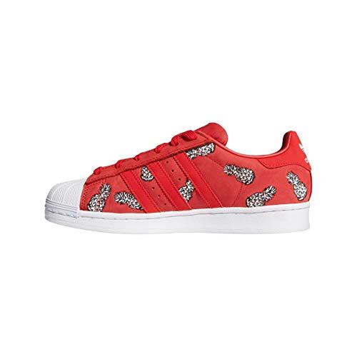 adidas Women's Superstar Low-Top Sneakers, Red (Scarlet/Scarlet/Footwear White 0), 5 UK