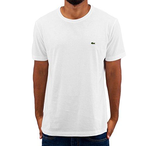 Lacoste Herren T-Shirt TH2038-00 Einfarbig, Weiß (WHITE 001), Gr. 6 (Herstellergröße: XL)