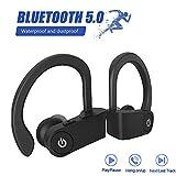 Cuffie Bluetooth 5.0 Auricolari Senza Fili,25 Ore di Tempo di Utilizzo, Microfoni Integrati, Riduzione del rumore Prova di Sudore Cuffie sportive, per Android/iPhone/Apple Airpods Pro/Samsung/Huawei