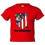 Camiseta niño Atlético de Madrid El Escudo del Atleti clásico personalizable con nombre - Rojo, 5-6 años