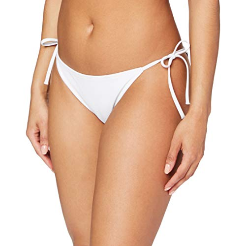 Calvin Klein Cheeky String Side Tie Parte Inferiore del Bikini, Pvh Classic Bianco, M Donna