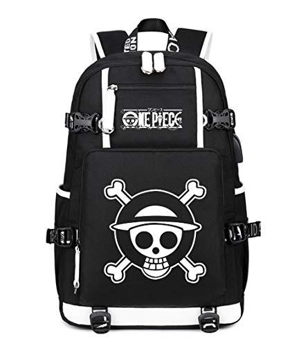 YOYOSHome Anime Cosplay Noctilucence Rucksack Messenger Tasche Rucksack Schultasche schwarz One Piece