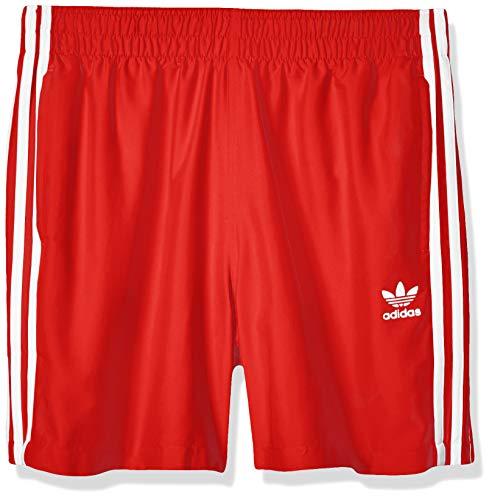 adidas Herren 3 Stripe Swims Swimsuit, Lush red, L