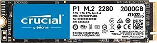 Crucial P1 2000GB 3D NAND NVMe PCIe M.2 Internal SSD (CT2000P1SSD8), 2TB (B07JFM524H)   Amazon price tracker / tracking, Amazon price history charts, Amazon price watches, Amazon price drop alerts