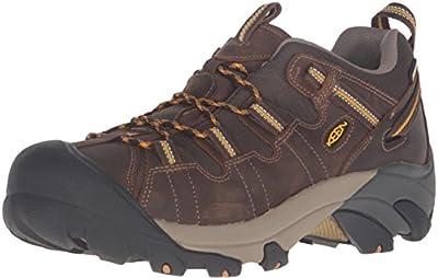 KEEN Men's Targhee II Hiking Shoe, Cascade Brown/Golden Yellow - 13 D(M) US