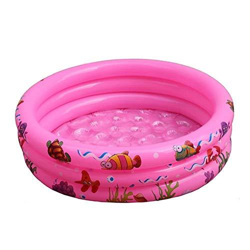 XYBB Piscina Piscinas Desmontables Hinchable Agua De Verano No Tóxica De Alta Densidad con Airbag Independiente En Capas 90 * 25cm Rosa