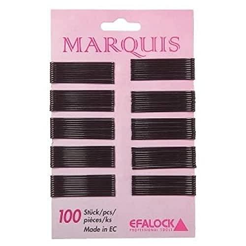 Efalock Professional Marquis Lot de 100 pinces à cheveux Doré 4 cm