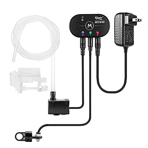 hygger Aquarium Alarm Auto Top Off Kit, Fish Tank Smart ATO Water Pump Auto Refill Water and One-Key Drain Water, Water Level Monitor Two Pairs of Protection Sensors for Saltwater Freshwater Tank