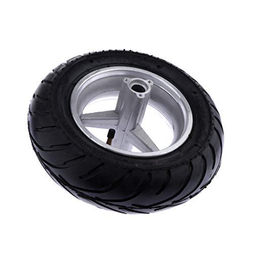 Almencla Neumático de Rueda Delantera de LLanta con Cubo de Repuesto Sólido para Mini Moto 49cc 2 Veces