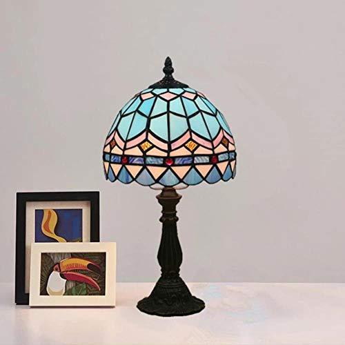 Lámpara de mesa YUKI, diseño de Tiffany retro de 20 cm