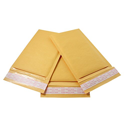 HGP #00, 5' x 10', 25 Pack, Kraft Bubble Mailers Padded Shipping Envelopes Self Seal