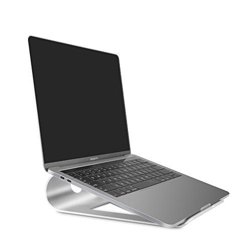 Soporte Portatil de Aluminio con ventilación, Soporte Refrigerador con Silicona Antideslizante para Soporte Ordenador Portátil para Macbook Pro Air