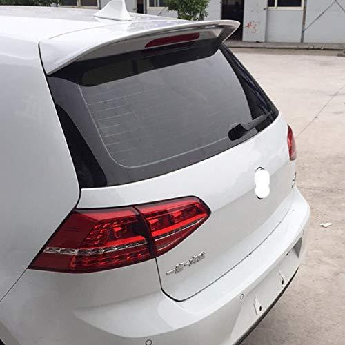 ACEOLT Alerón Trasero de ABS Premium para Golf 7 2014-2018 Modelo estándar, no Apto para GTI/GTD / 7R, Adhesivo Pegado sin Perforaciones y fácil instalación (Color : Blanco)