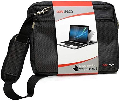 Navitech Black Sleek Premium Water Resistant Laptop Bag - Compatible with The HP OMEN Laptop 17-cb1003na 17.3' Laptop