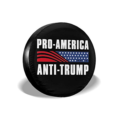 Hokdny Cubierta DE LA Rueda Pro-Estados Unidos Anti-Trump Universal Wheel Trims Accessories for Vehicles, Trailers, Motorhomes, SUV