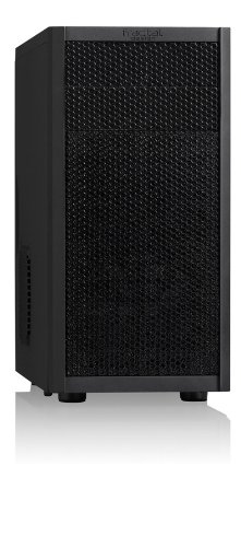 Fractal Design Core 1100 - Mini Tower Custodia Computer - Matx -Alta Areazione e Raffreddamento - Ventola Silenziosa Inclusa - Parte Anteriore in Alluminio Satinato - Filtri Antipolvere - Nero