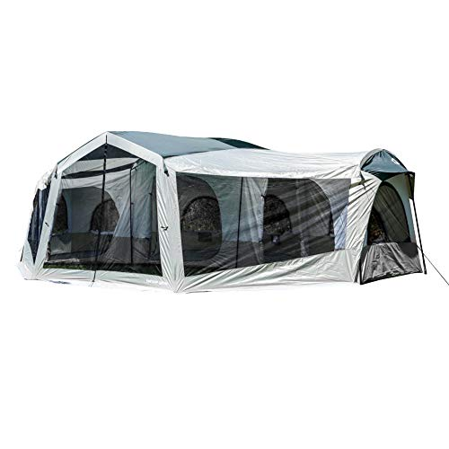 Tahoe Gear Carson 3 Season 14 Person Large Family Cabin Tent with Solar Shield