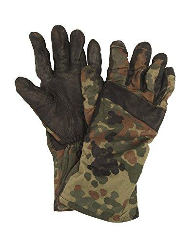 Bundeswehr-Flecktarn-Handschuhe aus Baumwolle und Leder, Klasse 1, - flecktarn - Größe: 42.5 EU